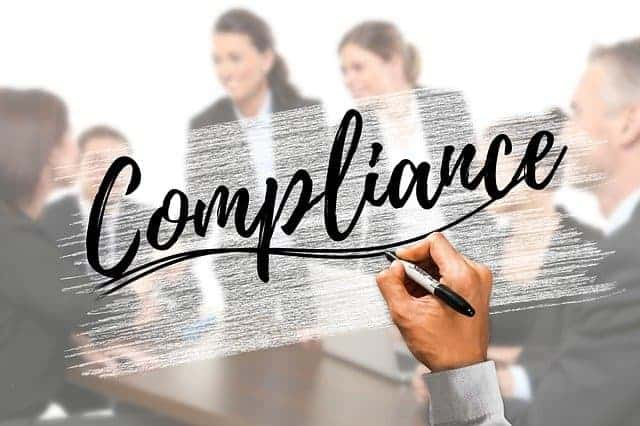 Compliance text image